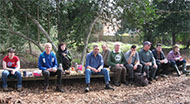 lunch break with Bracknell Conservation Volunteers